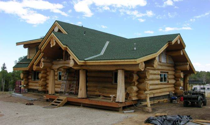 Ranch Style Log Home Heart Pinterest