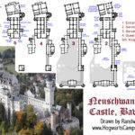 Real Castle Blueprints Neuschwanstein Floor
