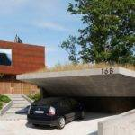 Really Like Open Car Garage Idea Cantilevered Concrete