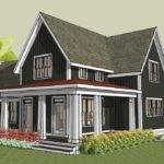 Rear Simple Farmhouse Plan Wrap Around Porch