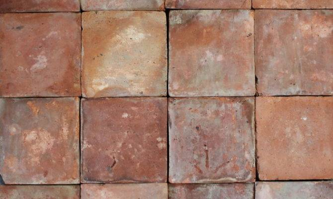 Reclaimed French Terracotta Square Red