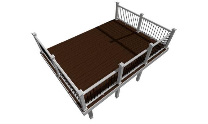 Rectangle Deck Designs Plans Trex