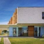 Rectangular House Design Two Kitchen Plan Home