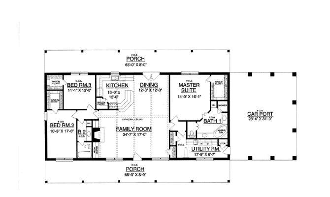 Awesome Rectangle Floor Plans 15