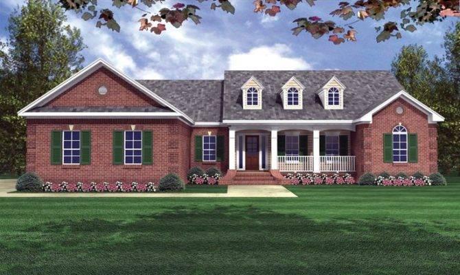 Red Brick Ranch House Pixshark