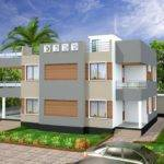 Redesign House Render Modern Flat Roof