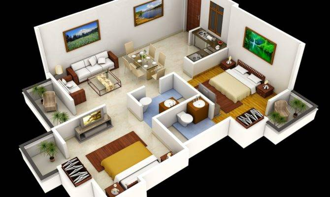 Related Two Bedroom House Interior Design