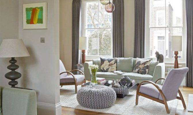 Relaxed Living Room Gentle Pastels Housetohome