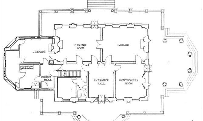Rendering Existing Floor Plan Montgomery Place Historic