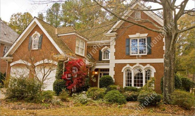 Residential Architecture Nice Brick House Winter