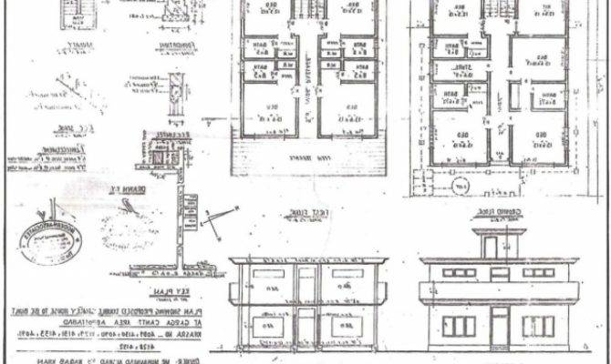 Residential Building Plan Section Elevation House Floor