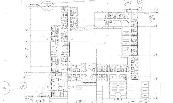 Residential Care Home Proposed Ground Floor Plan Brooke
