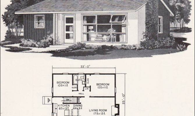 Retro Mid Century Modern Plan Weyerhauser Design