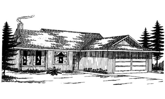 Riverfront Rustic Ranch Home Plan House Plans More
