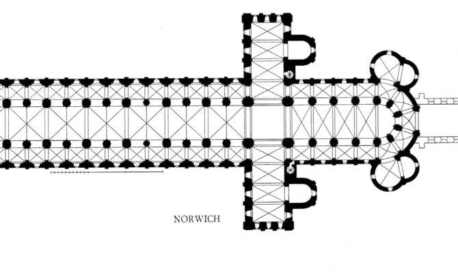 Romanesque Cathedral Floor Plan Title