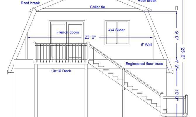 Roof House Plans Gambrel Framing Details