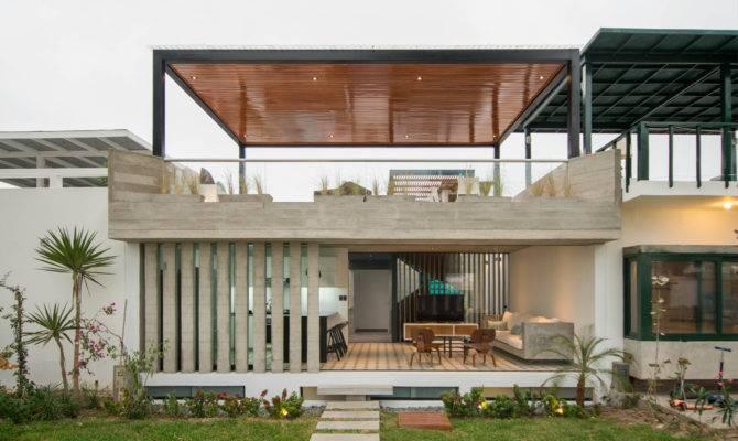 Rooftop Terrace Home Plans Modern House Plan