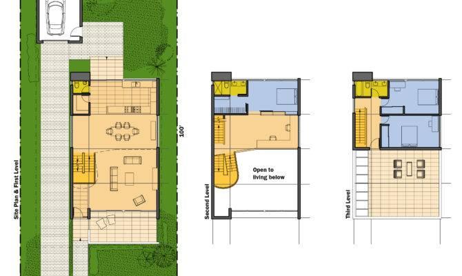 Rooftop Terrace House Plans Design