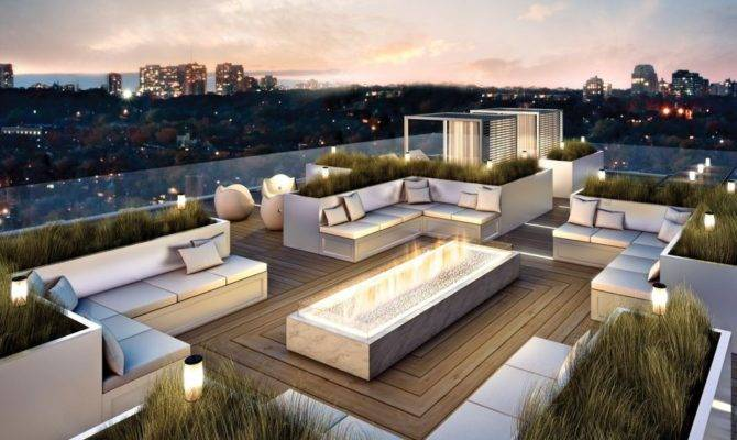 Rooftop Terrace House Plans Landscaping Gardening Ideas