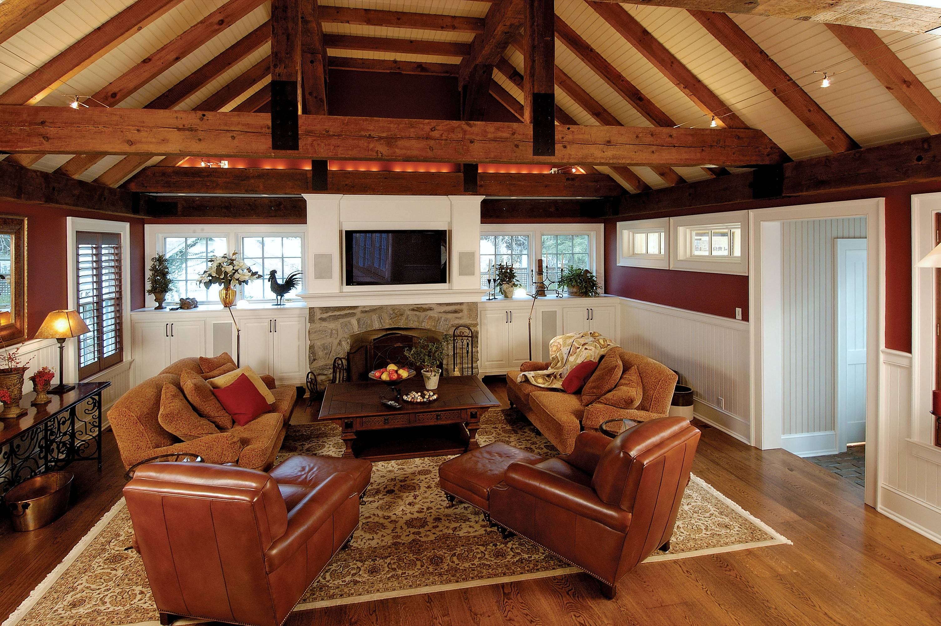 Rustic Beams Vaulted Ceiling Level