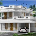 Room Flat Roof Villa Courtyard Indian House Plans