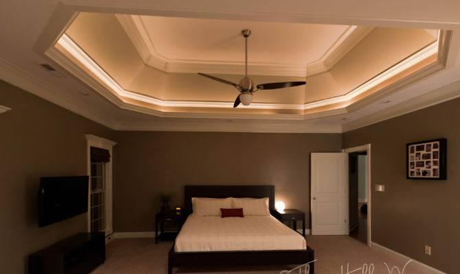 Room Master Bedroom Had Rope Lights Tray Ceilings