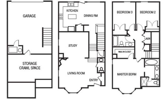 Row Home Floor Plans House Design