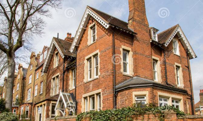 Row Typical English Houses Hampstead London
