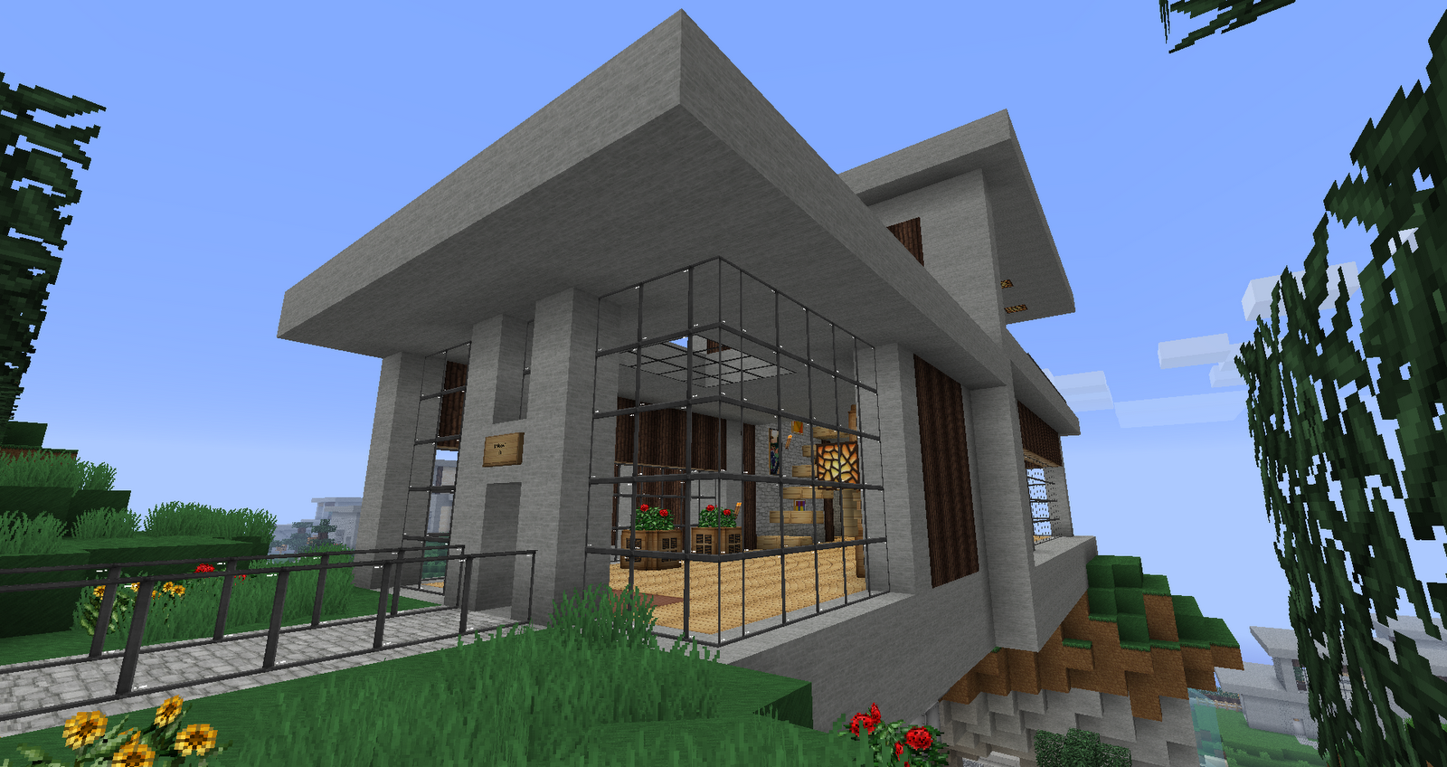 Ruked Minecraft Modern House Schematics - Home Plans ...