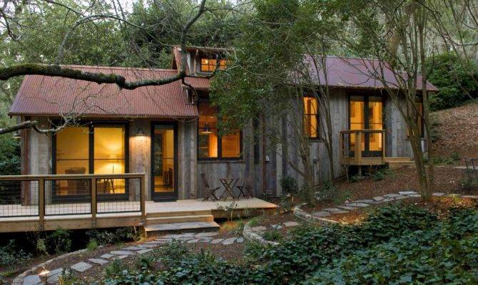 Rustic Cabin Gets Makeover Using Salvaged Material