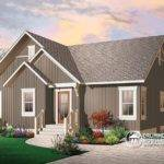 Rustic Cottage Cathedral Ceilings Unfinished Walkout Baseme