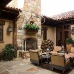 Rustic Lodge Style Home Porch Houston