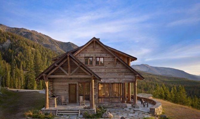 Rustic Log Cabins Exterior Metal Roof