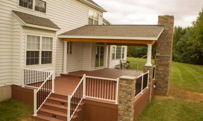 Rustic Porch Project Garnet Valley Stump Decks