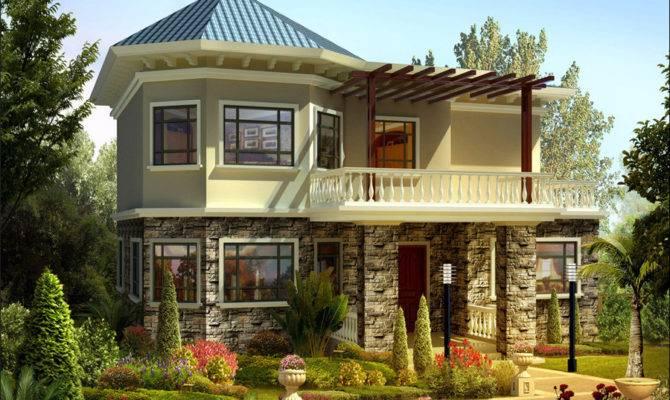 Rustic Two Story Villa Design