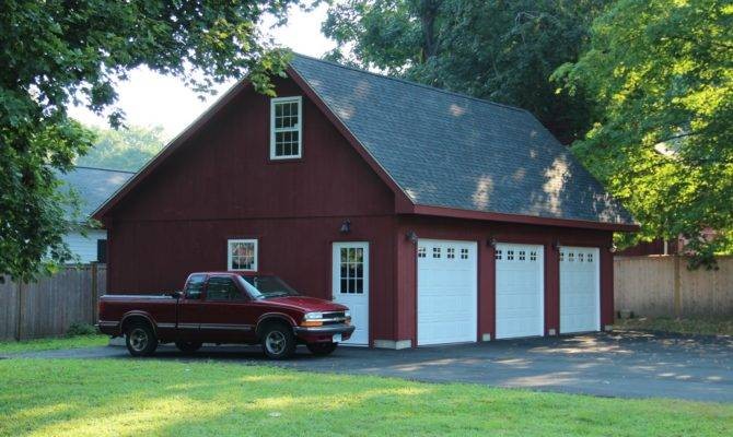 Saltbox Style Story Garage Barn Yard Great Country Garages