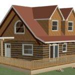 Sample Design Recreational Custom Log Cabin Cottage Guest