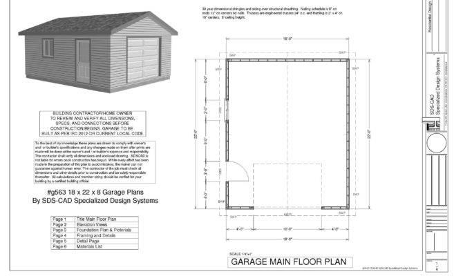 Sample Garage Plan Plans Pdf Dwg