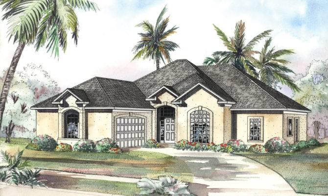San Lucas Florida Style Home Plan House Plans More