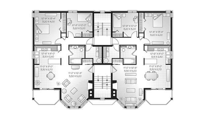 Santa Domingo Eight Plex Home Plan House Plans