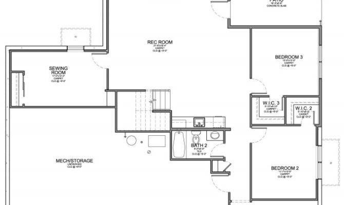 Santa Style Home Walkout Floor Plan Evstudio Architect