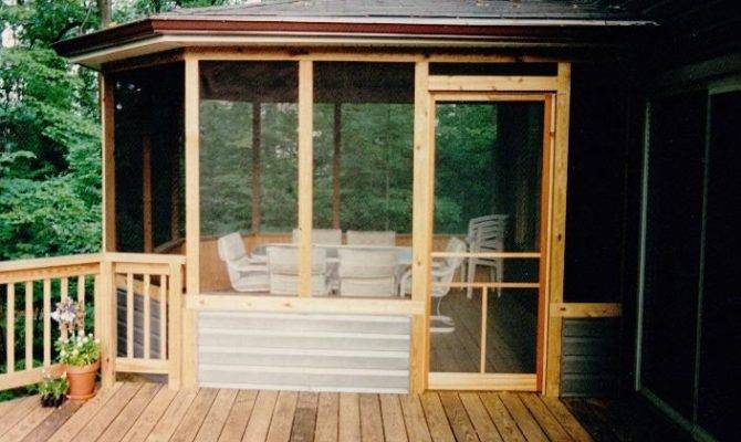 Screen Porch Ideas Tie Side House Outdoor