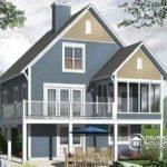 Screened Porch Cottage House Plan Walkout Basement Open Floor