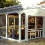 Screened Porch Ideas White Themes
