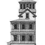 Second Empire Tower House Plan Design Allison