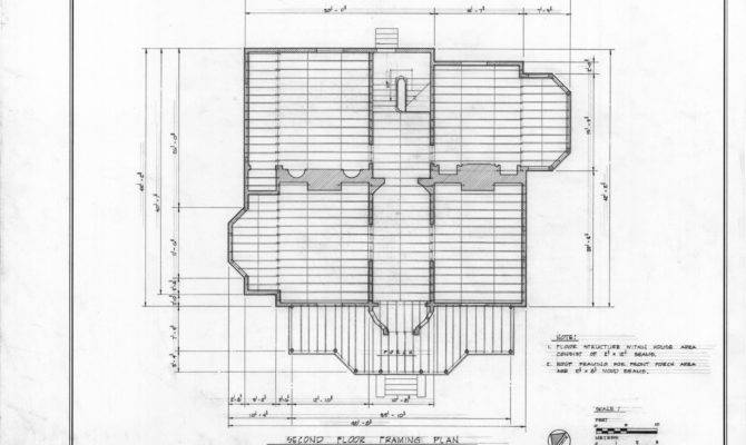 Second Floor Framing Plan John Milton Odell House Concord North