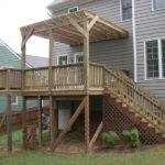 Second Story Deck Pergola Multilevel Multiple Stairways