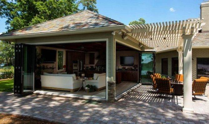 Semi Covered Outdoor Kitchen Designs Plans Wooden
