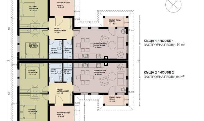 Semi Detached House Plans Skyline Bulgaria
