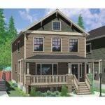 Separate Apartment Hwbdo Craftsman Multi House Plan